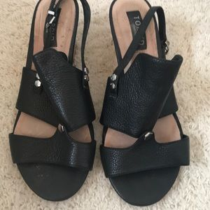 Torrid Black Wedges Leather Uppers Size 8 1/2 Wide